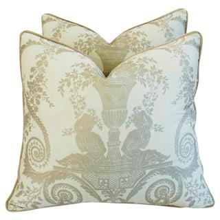 Italian Fortuny Lamballe Pillows - Pair