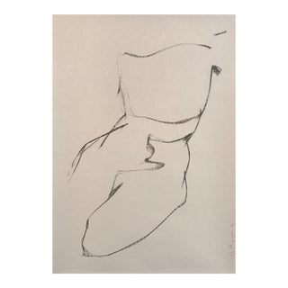 Jane DuBrin Abstract Charcoal Nude Drawing