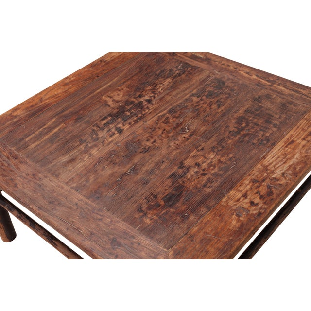 Vintage Sarreid LTD Chinese Rustic Coffee Table - Image 3 of 4