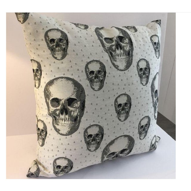 White And Black Skull Pillow For Couch Creative Decorative Throw