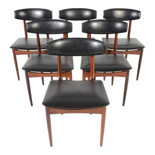 Kofod Larsen Style Rosewood Dining Chairs - S/6