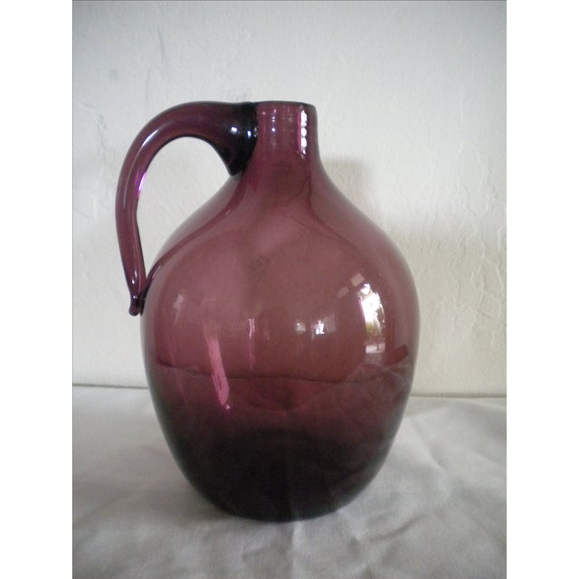 Vintage Hand-Blown Glass Jug - Image 2 of 4