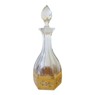 French Floral Motif Decanter