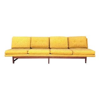 Mid-Century Modern Armless Dux Sofa with Teak Legs