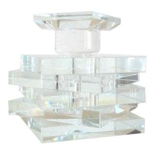Mid-Century Crystal Glass Perfume Bottle C. 1950