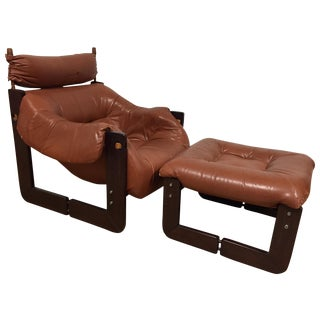 Percival Lafer Brazilian Lounge Chair and Ottoman