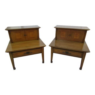 Mid-Century Modern Nightstands or End Tables by White Furniture Company - a Pair