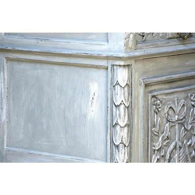 Traditional French Louis XVI-style Painted Buffet - Image 5 of 10