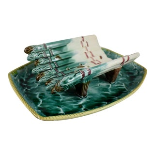 English Majolica Ocean Themed Asparagus Server