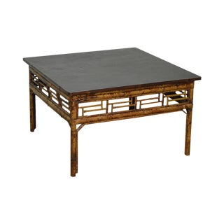 Vintage Chinese Bamboo Square Coffee Table