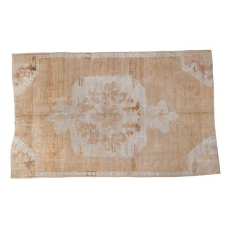 "Distressed Oushak Carpet - 5'10"" X 9'1"""