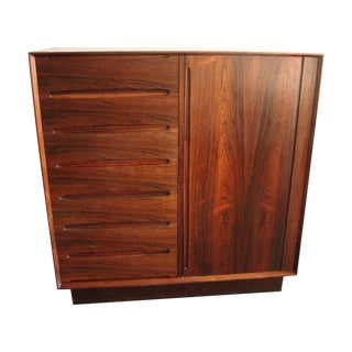Dyrlund Smith Rosewood Tambor 15 Drawer Dresser