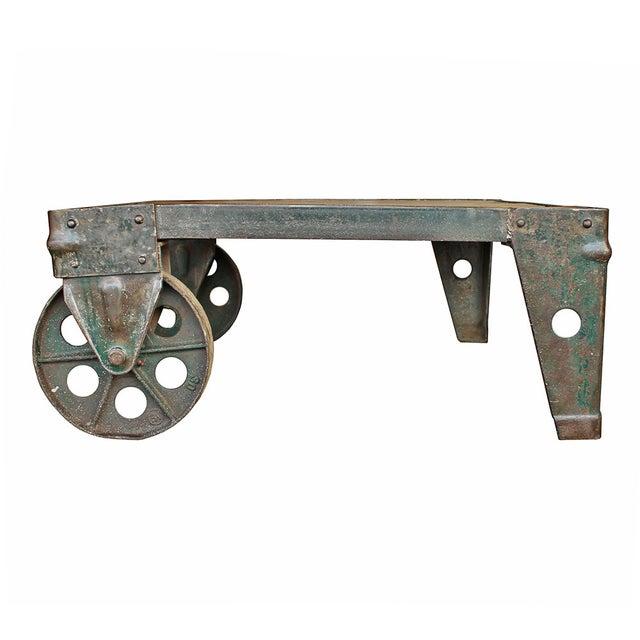 Vintage Industrial Coffee Table - Image 1 of 5