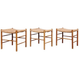 Set of Three Charlotte Perriand Dordogne Stools