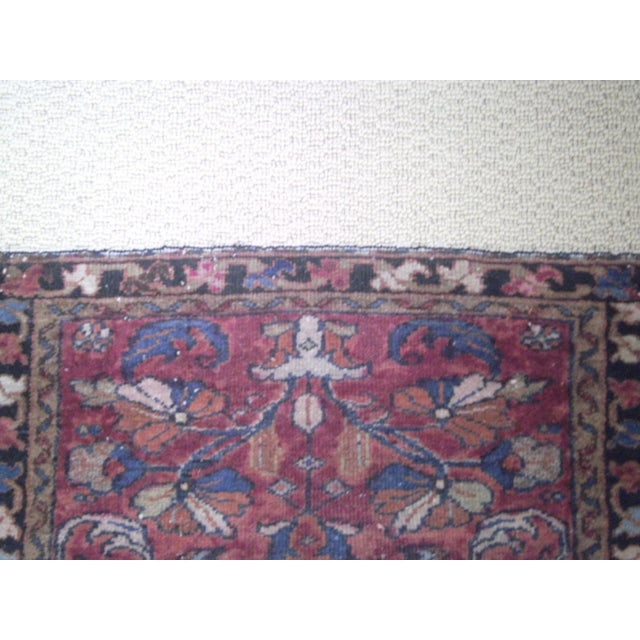 Small Traditional 1900s Red Blue Rug - 2'' x 2'' - Image 6 of 8