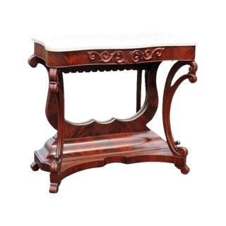 Empire Style Mahogany Marbletop Console Table