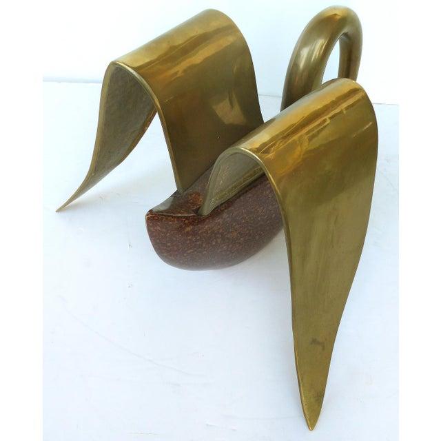 Brass & Tortoise Swan Coffee Table - Image 5 of 10