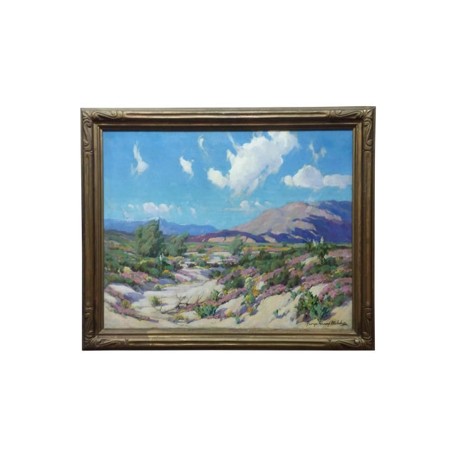 """California Desert"" Oil Painting by George Melcher - Image 1 of 9"