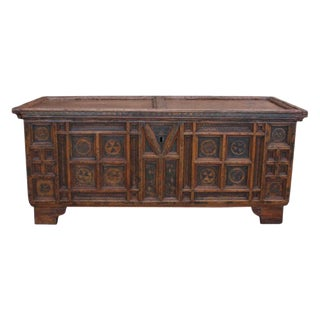 A Rustic Swiss Baroque Coffer or Dowry Chest