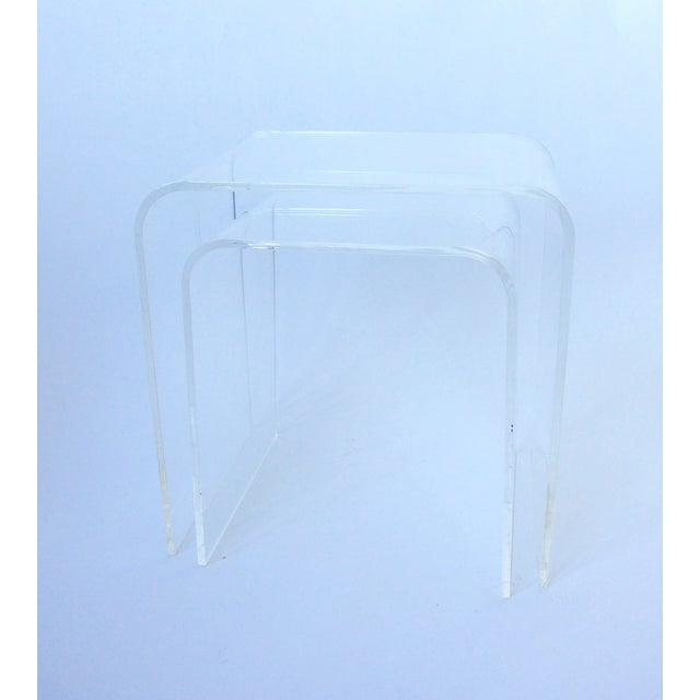 Image of Vintage Lucite Nesting Tables - 2