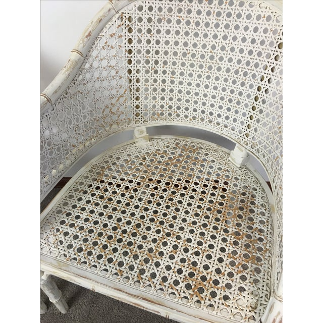 Vintage Faux Bamboo Rattan Chairs - A Pair - Image 6 of 8