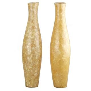 Capiz Shell Vases - A Pair