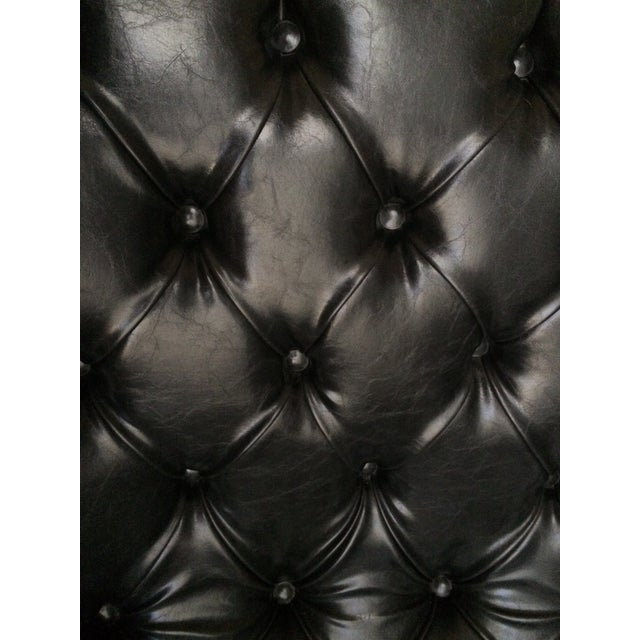 Serena & Lily Black Leather Bruno Chair - Image 5 of 8