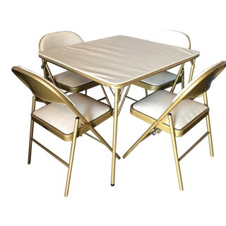 Midcentury Modern Game Table & Chair Set