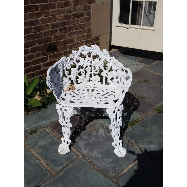 Antique Cast Iron Garden Bench - Image 3 of 11