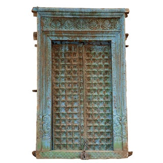 Early 19th Century Barmer Turquoise Door