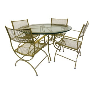 5-Piece Vintage Diamond Patio Set
