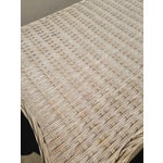 Image of White Wicker 2 Drawer Nightstand