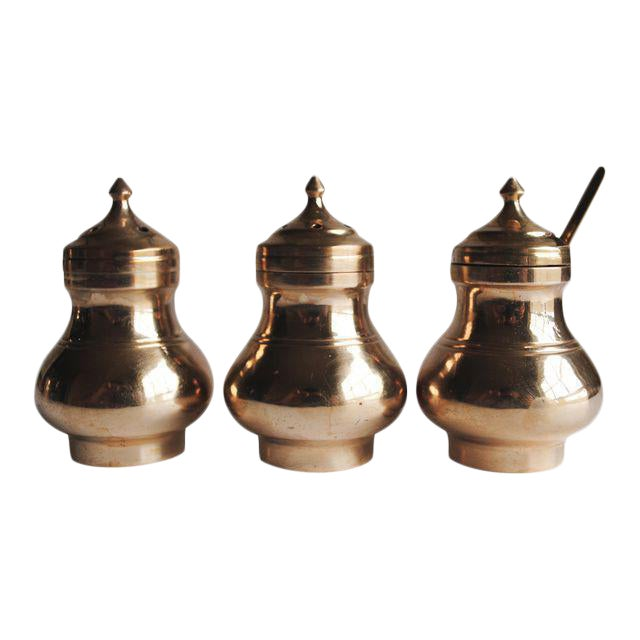 Vintage Salt & Pepper Shakers and Mustard Jar - Image 1 of 4