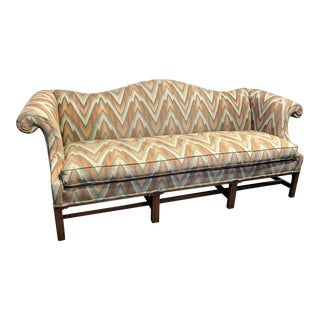 Hickory Chair Co. Chippendale Camel Back Sofa