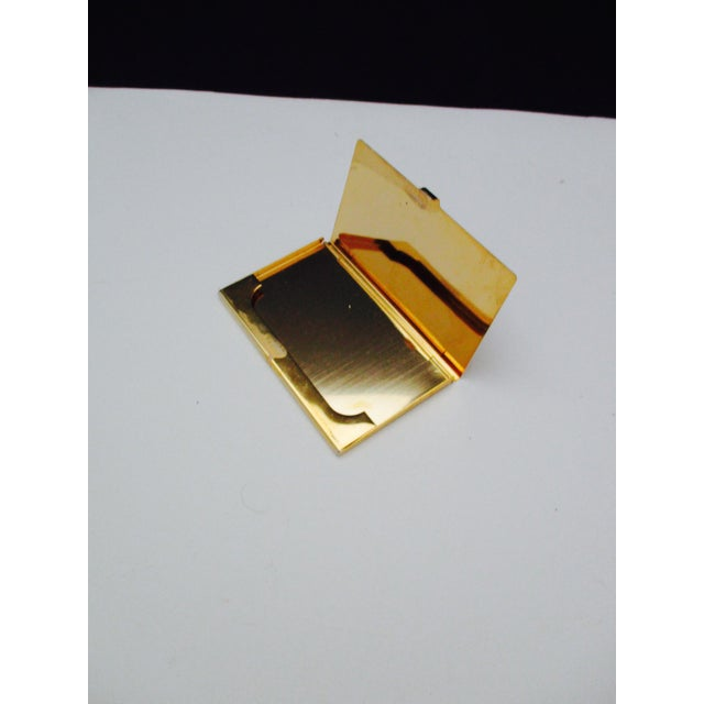 Harrods London Gold Compact Business Card Case - Image 8 of 8