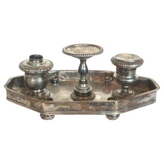 19th C. English Sheffield Ink Stand