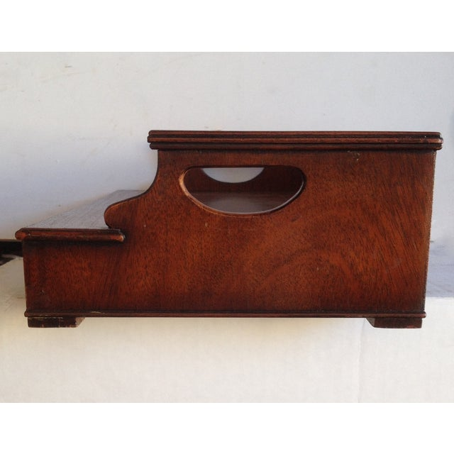 Image of Vintage Mahogany Book Stand with Stationery Drawer