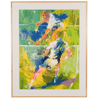 Tennis Players Serigraph by Leroy Neiman