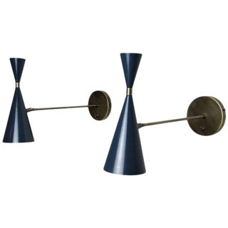 Italian Modern Wall-Mount Sconces in Bronze and Enamel by Studio Machina, 2017