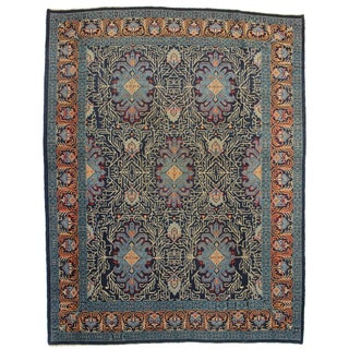 Hand Knotted Wool Persian Kashan Rug - 6′10″ × 8′10″