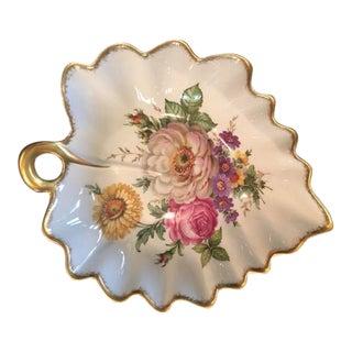 """Limoges France Leaf Bowl """"Pocelaine D'Art"""""""
