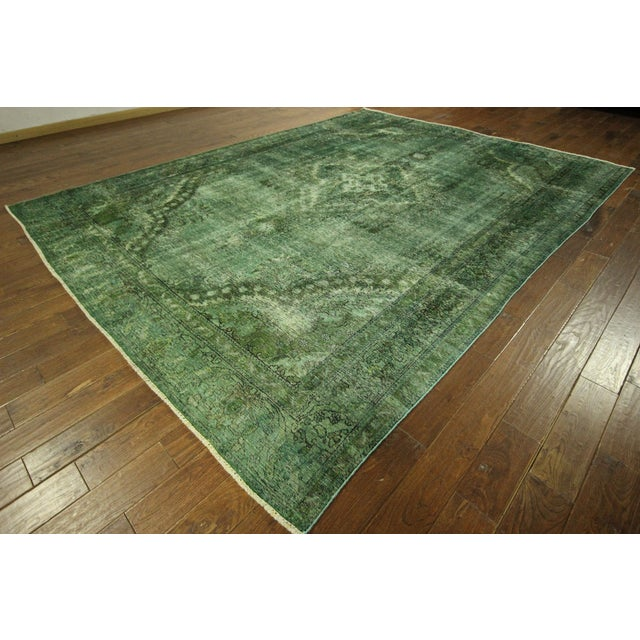 Overdyed Floral Hand Knotted Wool Rug - 9' x 12' - Image 2 of 10