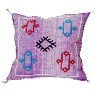 Moroccan Berber Sabra Purple Throw Pillow