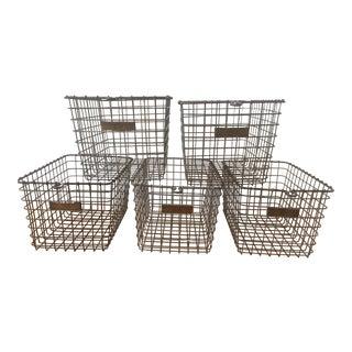Vintage American Wire Form Co. Locker Baskets - Set of 5