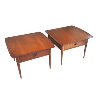 Bassett Mid-Century Modern Artisan End Tables - A Pair