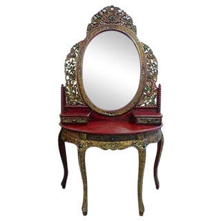 Regal Handcarved Decorated Vanity