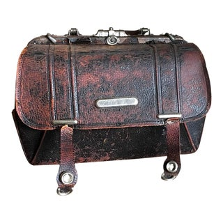 Old Doctors Bag, Leather Interior & Exterior, Antique Medical, Vintage Medicine