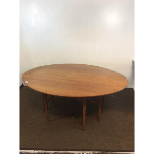 Mid-Century Modern Carved Drop-Leaf Dining Table - Image 2 of 5