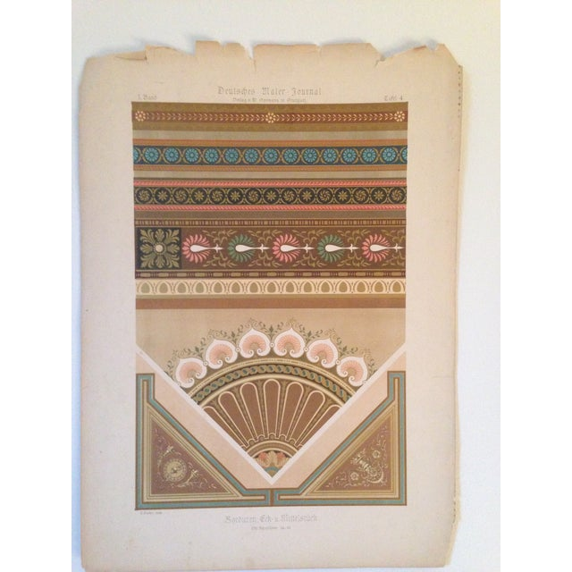 German Architectural Decorative Deutsches Maler Journal Chromolithograph - Image 2 of 4