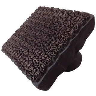 Wood & Metal Handblock Batik Textile Printing Tool